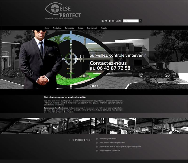 Création de site internet, société Else Protect, Loire