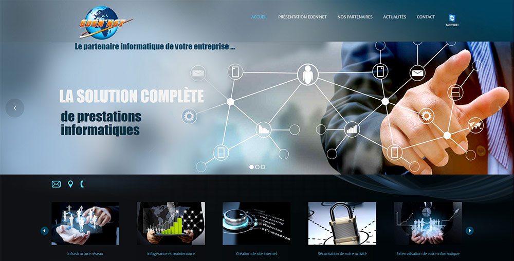 Création de site internet, Edennet, Saint-Etienne