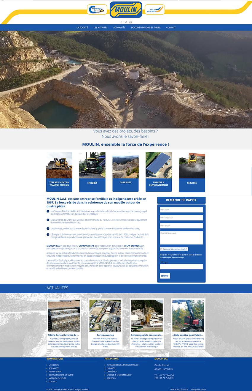 Création du site MOULIN TP, Saint-Etienne