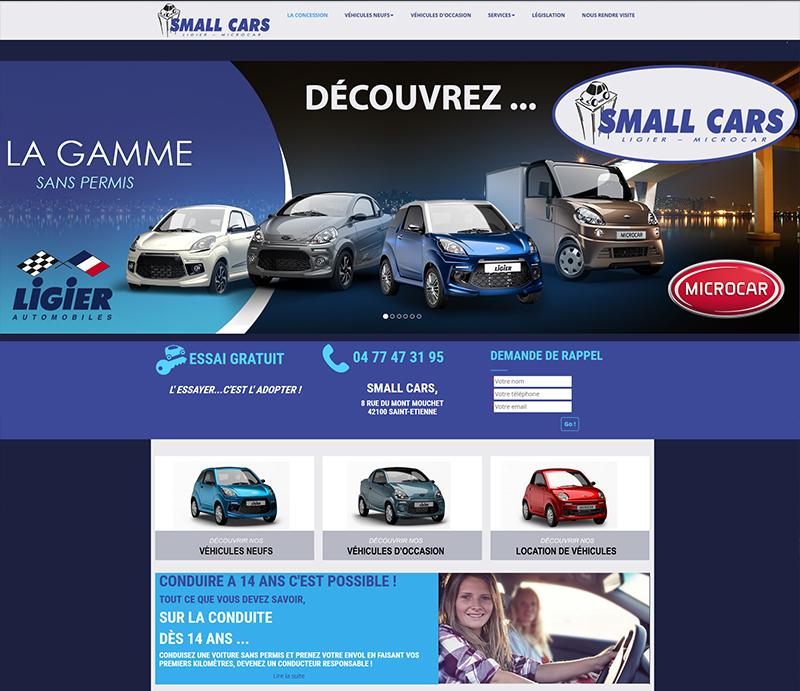 Création de site internet, Société Small Cars, Saint-Etienne
