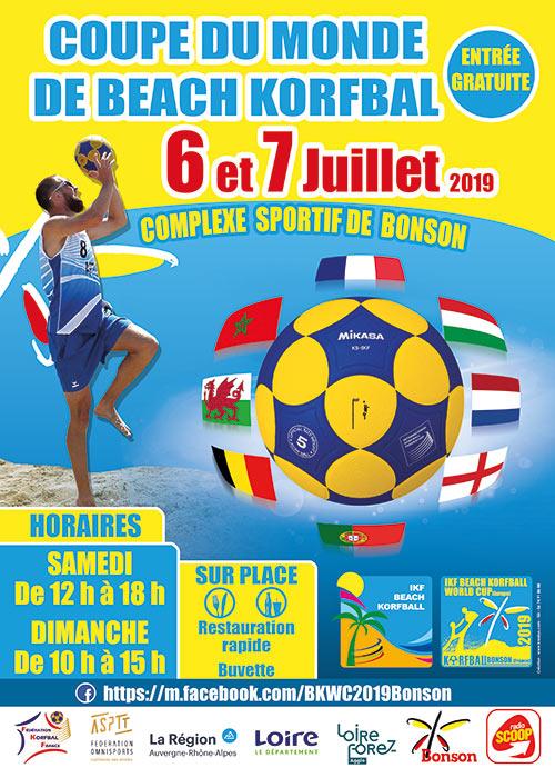 création affiche a3 coupe du monde de korfball
