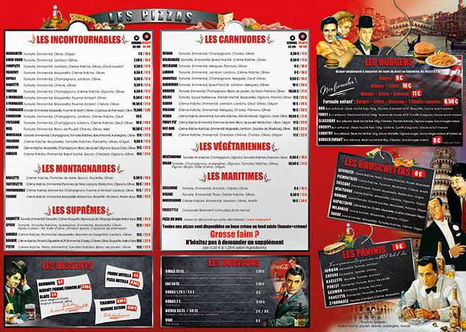 Création menu funky piz