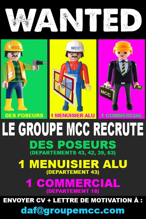 création encart recrutement groupe mcc